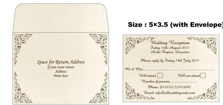 Indian Wedding Invitation Cards by All Wedding Cards com – Sample Rsvp Wedding Cards